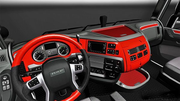 Custom Red interior for DAF XF Euro 6