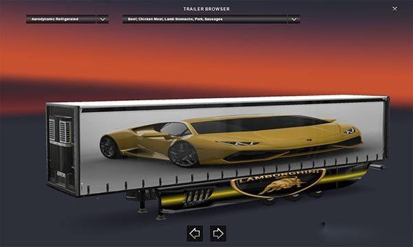 Lamborghini trailer