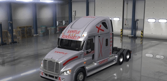 Freightliner Cascadia Template for Skins MOD 2