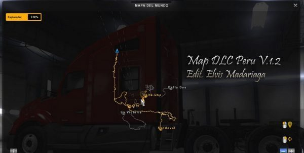 Map DLC Peru for ATS